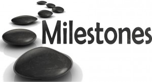 Milestones logo-text and stones